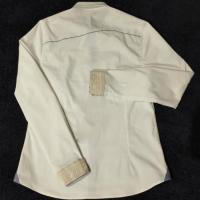 China White Women's Blank Long Slim Fitted Embroidered Shirts wholesale