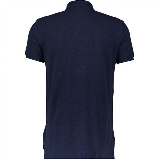 Quality Male Navy Custom Fit Polo Shirt for sale