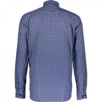China Men's Blue Check Fitted Shirt wholesale
