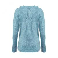 China Blue Fitted Jersey Hoodie wholesale