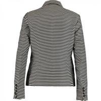 China Black & White Striped Woven Blazer wholesale