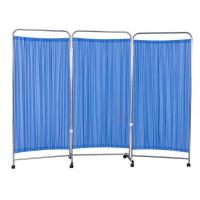 China Stainless Steel 3-fold hospital Bedside Screen/hospital bed screen curtain wholesale