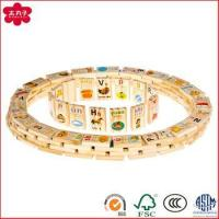 China Cheap Chinese Pinyin Early Teaching Wooden Domino Brick For Kids Domino Game wholesale