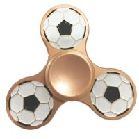 China 2017 Hot Sale Hand Fidget Spinner with football logo wholesale