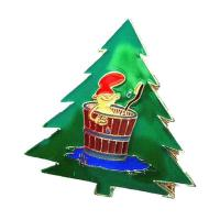 China 2017 High quality Christmas tree lapel pin badge wholesale