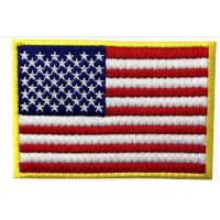 China 2017 Supply OEM/ODM High Quality Custom USA Flag Embroidery Patch wholesale