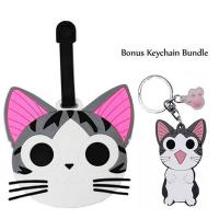 China Chi's Sweet Home Cat PVC Luggage Tag Travel Bag Backpack Tags wholesale