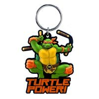 China Nickelodeon Michelangelo Soft Touch PVC Key Ring wholesale
