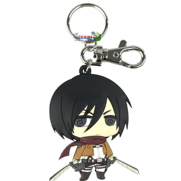 Quality Attack On Titan SD Mikasa PVC Keychain for sale