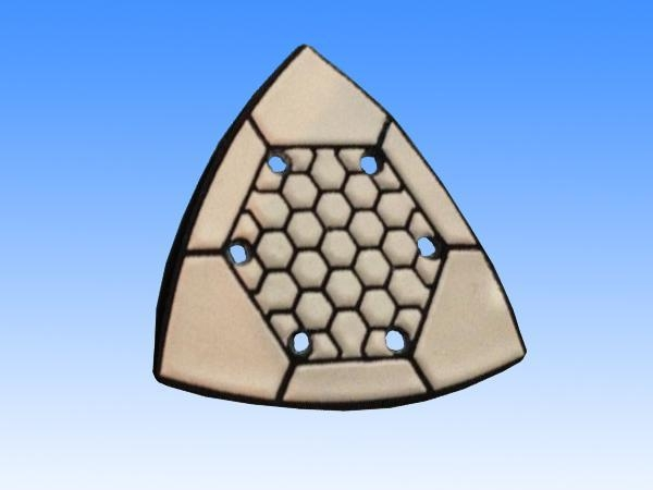 Quality Triangle dry flexible polishing pad for sale