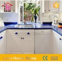 China Artificial Engineered Quartz Countertop Blue Colors with Competitive Price wholesale