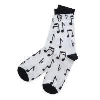 China Apparel/Accessories Music Notes Adult Crew Socks wholesale