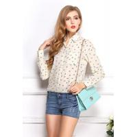 China Women Beige Chiffon Shirt wholesale