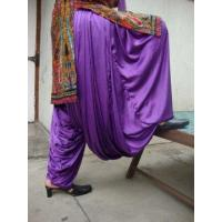 China Maharani PURPLE Satin Silk Patiala Salwar wholesale