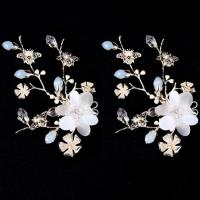 China New Design Flower Wedding Headpiece Bridal Hair Clip Piece wholesale