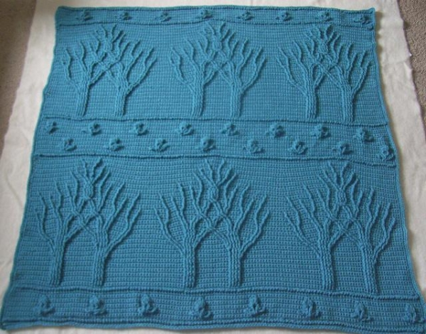Quality Handmade Crochet trees blankets and plaid for winter for sale