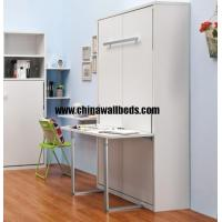 Buy cheap Space saving indoor folding wall bed computer table with wardrobe murphy bed from wholesalers
