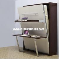 China Durable home furniture murphy bed with book desk modern hidden bed wholesale