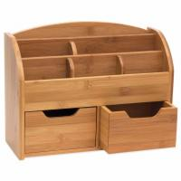 China 100% Natural Bamboo Desk Organizer with 3 Drawers wholesale