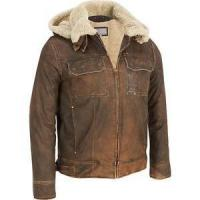 China Clothing, Shoes & Accessories Wilsons Leather Mens Vintage Leather Bomber Jacket W/ Faux-Shearling on sale