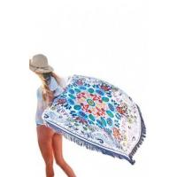 China Wildflower Round Towel Beach Picnic Blanket LC42093-22 wholesale