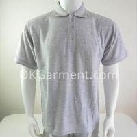 Custom Mens Cotton Heather Grey Polo shirts