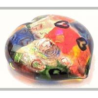 China Glass Paperweights For Sale,Red Heart 2015 by Michael Maddy and Rina Fehrensen of Mad Art. on sale