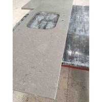 China Pre Cut Quartz Kitchen Dark Grey Countertops Pictures wholesale