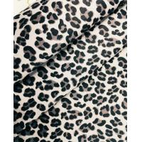 China 60%cotton 37%polyester 3%spandex Cotton-Polyester Stretch Twill Leopard Print Fabric on sale