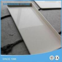 China Engineered Stone Polished Yellow Quartz Countertop for Kitchen on sale