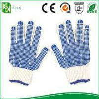 China Blue PVC Coated String Knit working cotton Gloves on sale