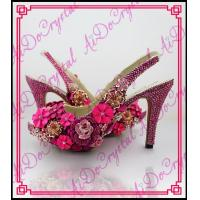 China Aidocrystal handmade floral crystal high heel shoes slingback sandal shoes wholesale