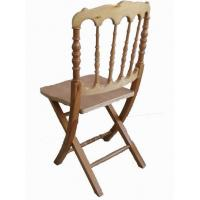 China Elegant Fashion White Color Wooden Folding Ceremony Party Commercial Events Chair wholesale