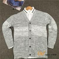 China 2016 Fashion Two Colour Design Men Cardigan Sweater on sale