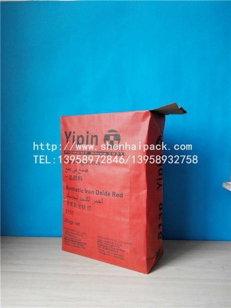 Quality Red iron oxide pigment valve pocket for sale