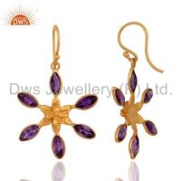 China Sterling Silver Amethyst Earrings wholesale