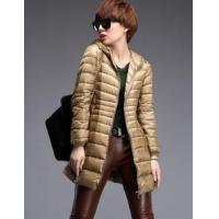 Buy cheap PFF-17 slim middle long light women down jacket from wholesalers