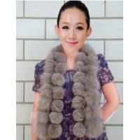 China SC-13 fashion fox fur and rabbit fur scarf for women wholesale