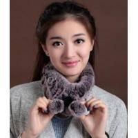 China SC-30 Rabbit Fur Knitted Scarf wholesale