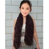China SC-14 fashion fox fur and rabbit fur scarf for women wholesale