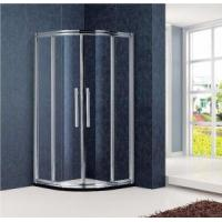 China Framed Quadrant Sliding Aluminium Shower Screen with 1/4in. Clear Glass and Stainless Steel Handle wholesale