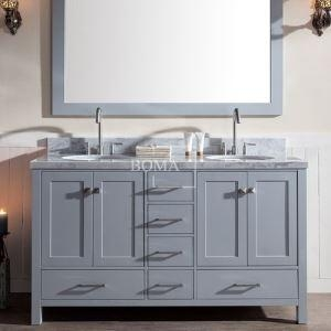 60 inch grey double bathroom vanity sets with drawers cheap discount of gdtazoo. Black Bedroom Furniture Sets. Home Design Ideas