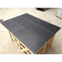 China Honed Surface Black Granite For Indoor Flooring And Wall Tile on sale