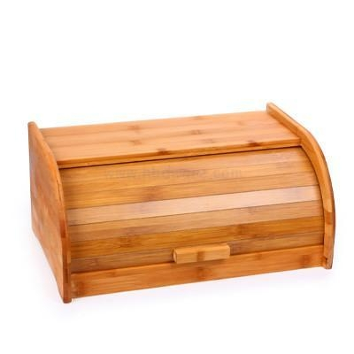 Quality International Trade Best Home Bamboo Roll Top Big Bread Pastry Boxes or Storage or Bins for sale