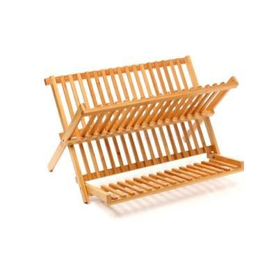 China Buy Modern Bamboo or Wooden Dish Drying Rack and Utensil Drying Rack