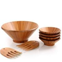 China Large Wooden Salad Bowl Set with Plates and Bowls wholesale