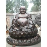 China Large Chinese and Laughing Bronze Statue of Buddha on sale