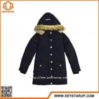 China Competitive Hot Product Faux Fur Hood Jacket Single Breasted Ladies Coat Medium Outerwear on sale