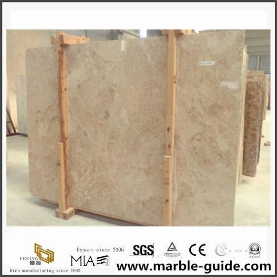 Quality Light Polished Crema Cappuccino Beige Marble For Bathroom Floor Tile Design for sale