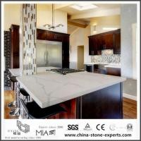 China Beautiful Calacatta White Quartz Kitchen Worktops with Low Cost on sale